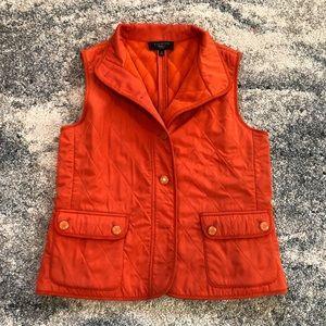 Talbots orange vest